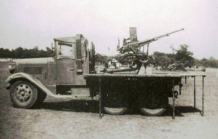 20 Mm Aa Machine Cannon Carrier Truck Ko Hi Japanese Spaag It