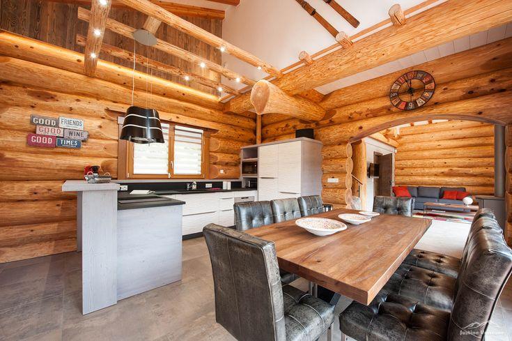 Cuisine bicolore avec facade 3d et jeux de lumi res plan granit et poign e profils inox - Cuisine bicolore ...