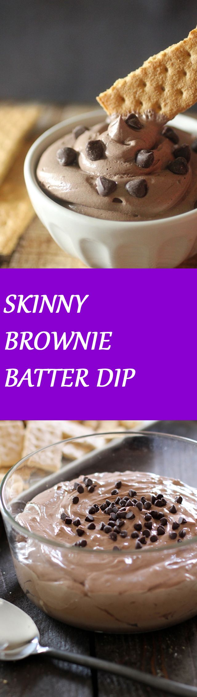 SKINNY BROWNIE BATTER DIP To get the recipe click on the image :D
