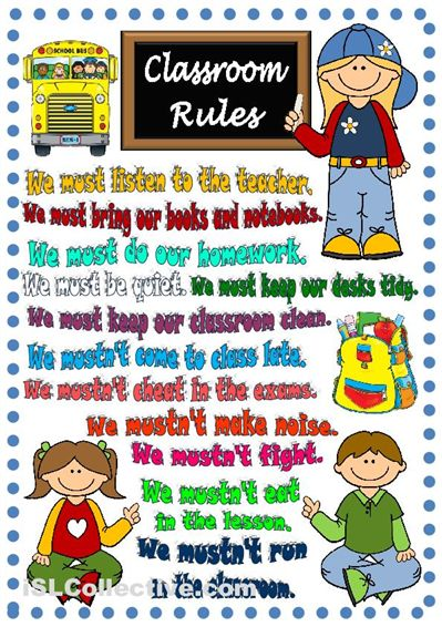 Classroom rules - poster