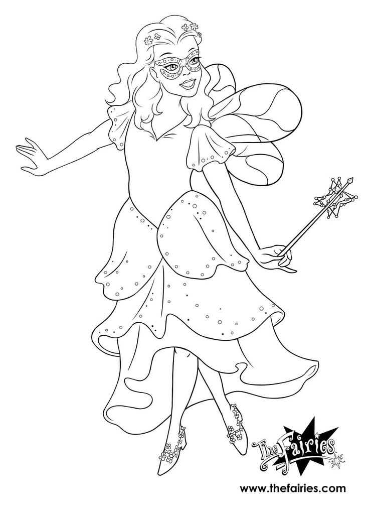 Rainbow Magic Fairies Coloring