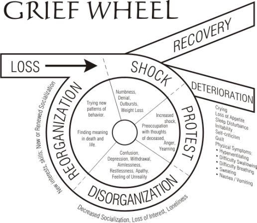 The Grief Wheel  #grief #bearevement