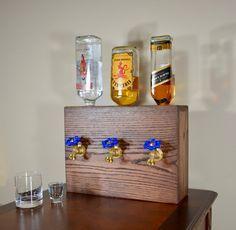 3 Bottle Wood Liquor Dispenser by NomadWoodworkingShop on Etsy