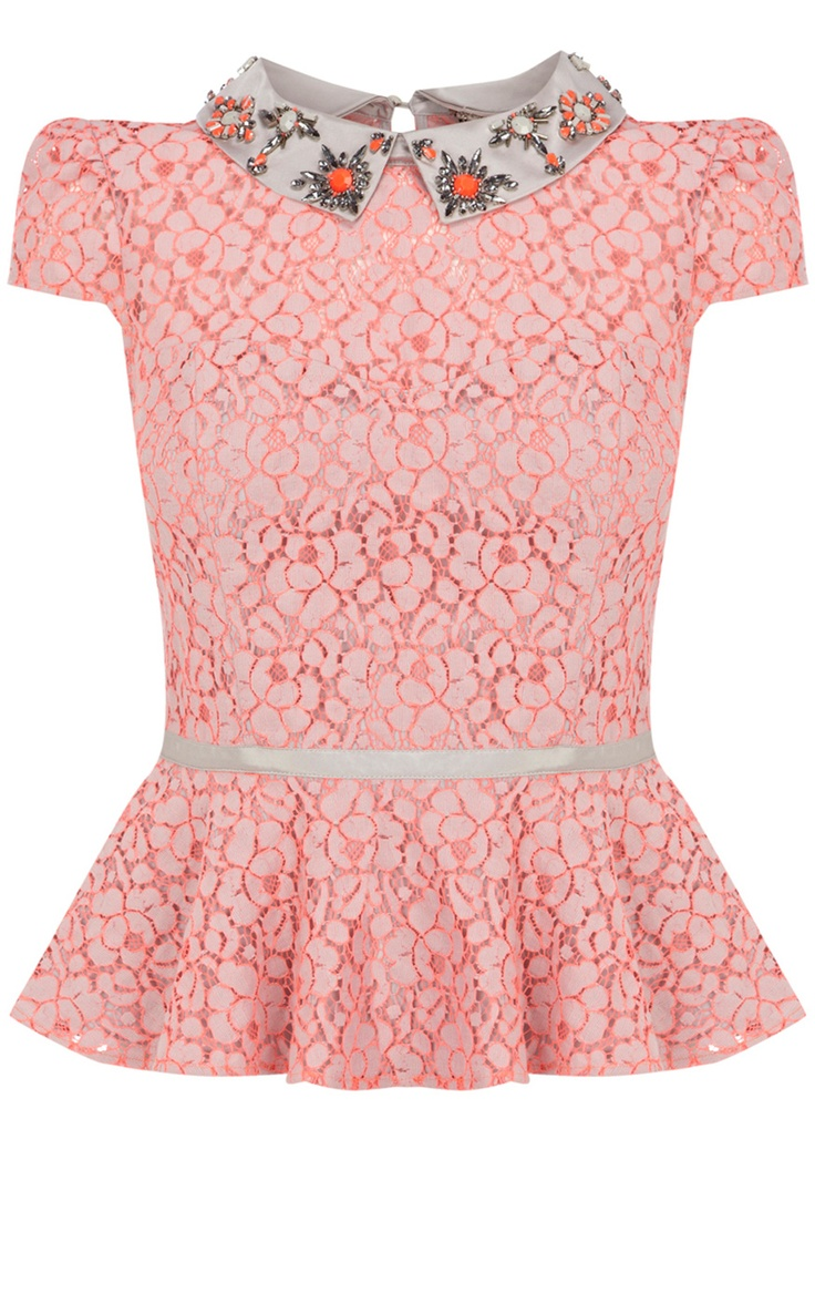 New In | Pink Party beaded top | KarenMillen Stores Limited