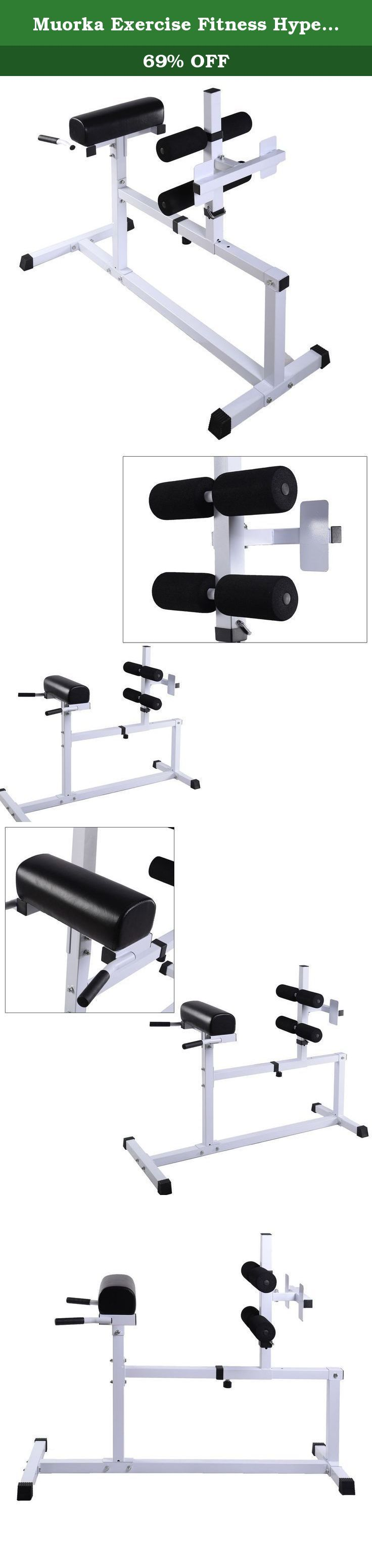 Muorka Exercise Fitness Hyper Extension Hyperextension Bench Chair Workout Core Abdominal. Description: The hyperextension bench effectively cushions your back while performing strength exercises. Muorka Hyper Extension Machine is the perfect piece of equipment to do just that. Featuring, quick adjustable sliding pegs and traction enhanced foot pegs to allow for secure positioning during use, this machine can accommodate most any user. Features: - Sturdy and durable - Build and define…