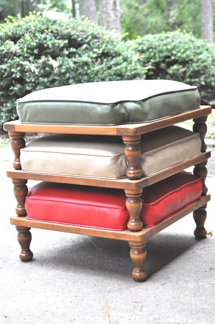 Delightful Stackable Sitting Stools. These Were An Antique Item, But They Donu0027t Look