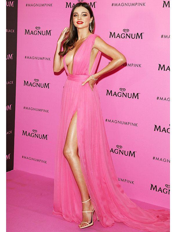Cannes 2015: Miranda Kerr Wears Pink Plunging Dress, Narrowly Avoids Wardrobe Malfunction http://stylenews.peoplestylewatch.com/2015/05/15/cannes-2015-miranda-kerr-low-cut-dress-style/