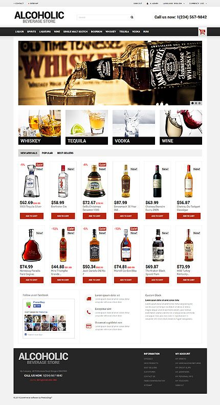Liquor Store PrestaShop Theme