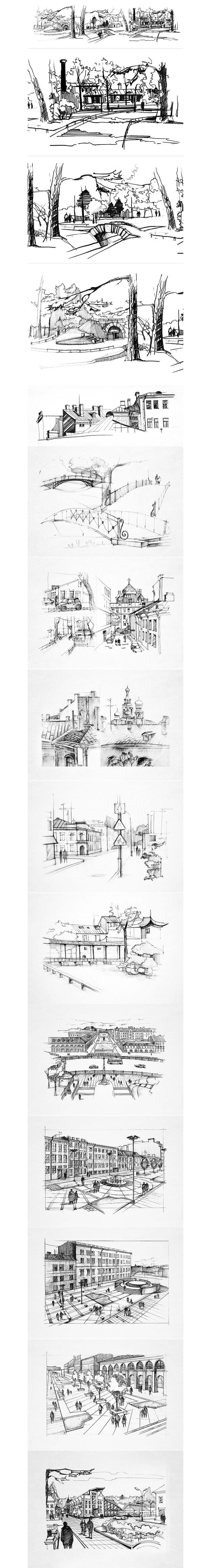 Landscape sketches on Behance