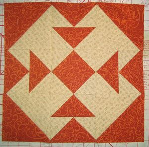 Free Quilt Block Patterns: Reverse Capital T Quilt Block Pattern