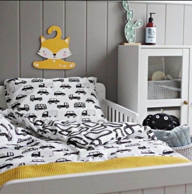 Monochrome Boys Bedding Pure Cotton Cot Bed Duvet Cover Set Cars And Roads Cot Bed Duvet Bed Duvet Covers Duvet Cover Sets
