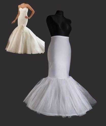 1 HOOP FISHTAIL PETTICOAT WEDDING BRIDAL UNDERSKIRT FOR FISHTAIL WEDDING DRESS