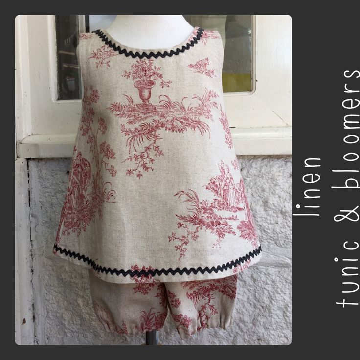 diddums. Linen bloomers and tunic dress/top.