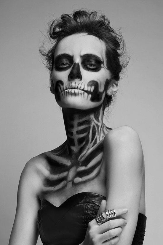Zombie make-up by Pauline Darley.