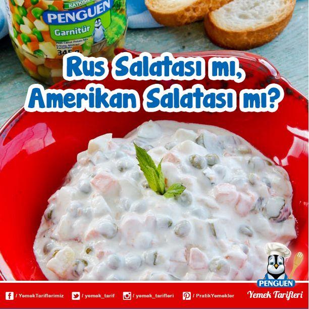 Bugün hemen her gün soframızda gördüğümüz Amerikan Salatası'nın aslında Rus Salatası olduğunu biliyor muydunuz?
