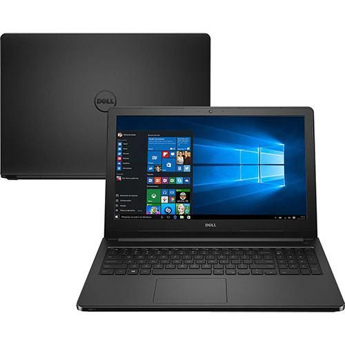 "Notebook Dell Inspiron i15-5566-A10P Intel Core i3 4GB 1TB Tela LED 15.6"" Windows 10 - Preto"