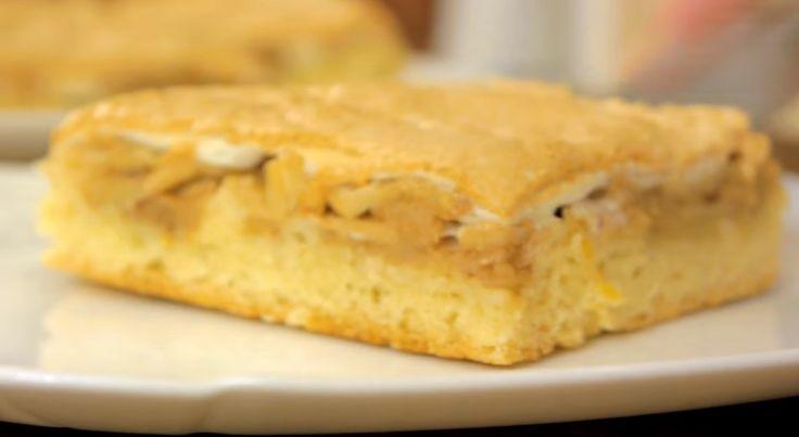 Нежная песочная основа, яблочная прослойка и тонкая корочка безе создают очень интересный вкус.