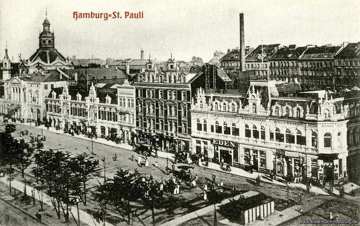 hamburg 1900 st pauli vor 100 jahren spielbudenplatz 20359 hamburg st pauli alte. Black Bedroom Furniture Sets. Home Design Ideas