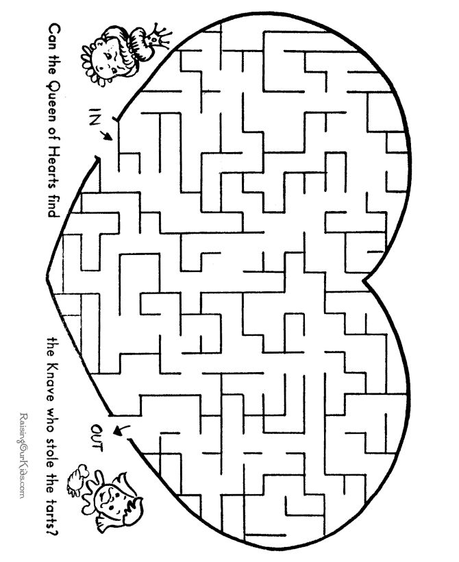 It's just a photo of Selective Printable Maze for Kids