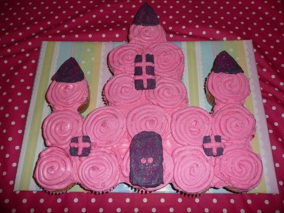 Princess Castle Cupcake Cake...these are the BEST Pull Apart Cake Ideas!
