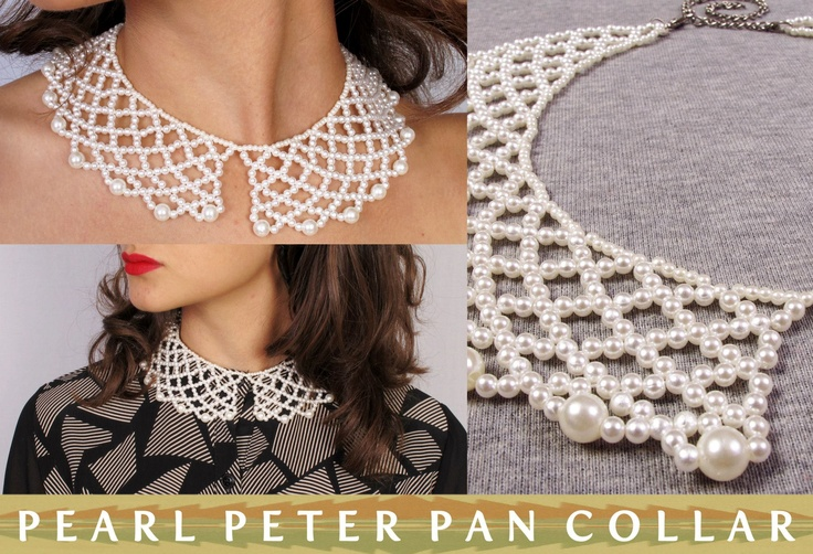 When your collarbones get lonely, this pearl Peter Pan collar will cheer it right up.