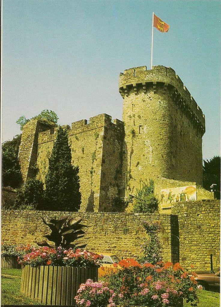 Château datant du Moyen-Age, Avranches, Normandie, France