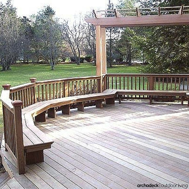 Deck Bench Seating: 117 Best Images About Built In Deck Seating, Benches