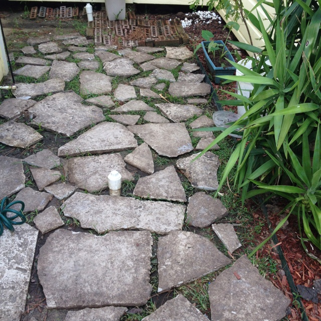What To Do With Those Leftover Concrete Slabs on lowes landscape patio pavers