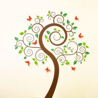 Gyönyörű fa levelekkel + 3D matricák (Multicolor) : 3D matricák - KaticaMatrica.hu - A minőségi falmatrica és faltetoválás webáruház