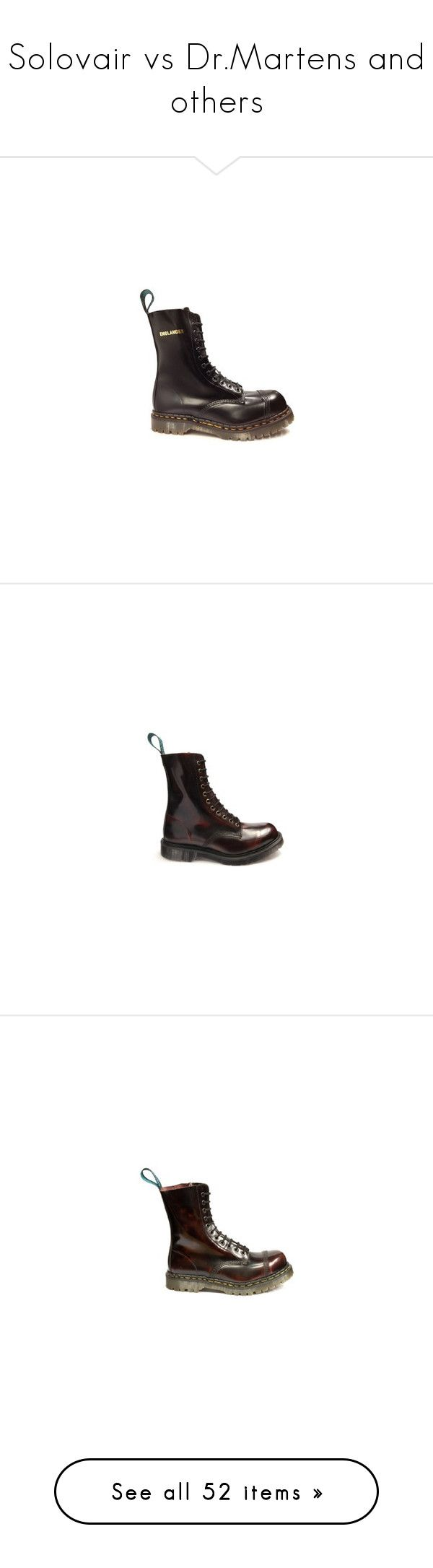 """""""Solovair vs Dr.Martens and others"""" by lorika-borika on Polyvore featuring shoes, boots, real leather boots, leather steel toe boots, black shoes, safety toe boots, steel toe shoes, genuine leather shoes, burgundy shoes и genuine leather boots"""