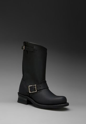 FRYE Engineer 12R in Black i just love the fact that FRYE has a steel-toe boot for women engineers and they arent work boots! thanks Frye!