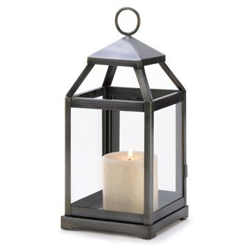 """Check out this item at One Kings Lane! Pair of 12"""" Contemporary Lanterns, Black"""