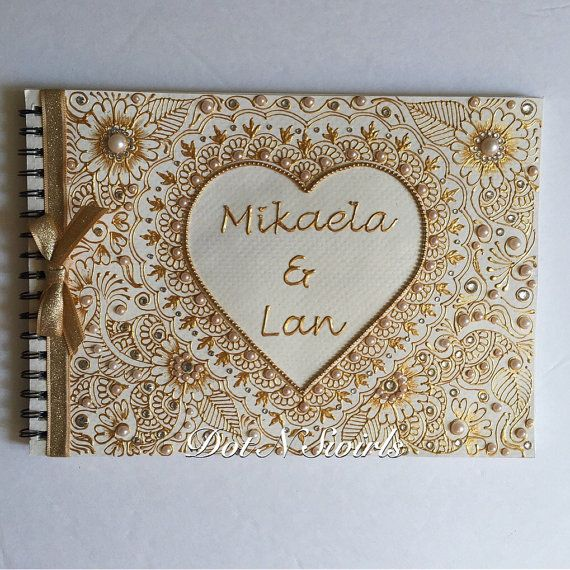 Mariage personnalisé guest book / commentaires mariage