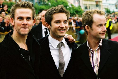 Dominic Monaghan, Elijah Wood, and Billy Boyd