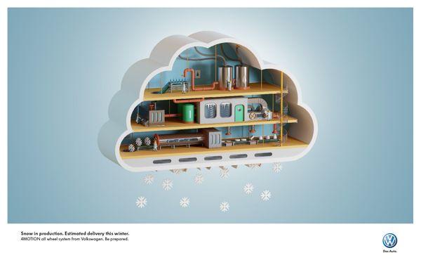 VW // Winter is coming on Digital Art Served