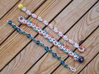 little beachy bracelets - I love Mrs. Micawber's blog!