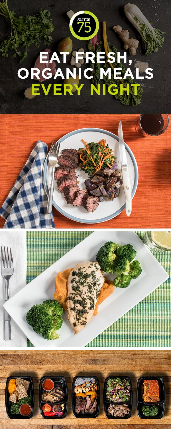Factor 75 delivers healthy prepared meals to your home. Our organic meal plans are designed for a variety of diets including paleo and more. Create your personal taste profile online and we'll start planning your first menu. You'll then get chef-prepared meals delivered to your door—each crafted from the finest organic ingredients.