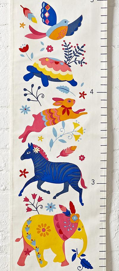 print & pattern blog - land of nod height chart by Victoria Johnson
