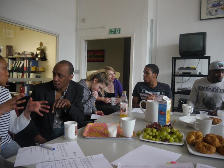 Palesa Mokoena, Michael Buffong, Rhia Zmitrowicz, Beth Hoare-Barnes, Bevan Celestine and Nick Korsah.