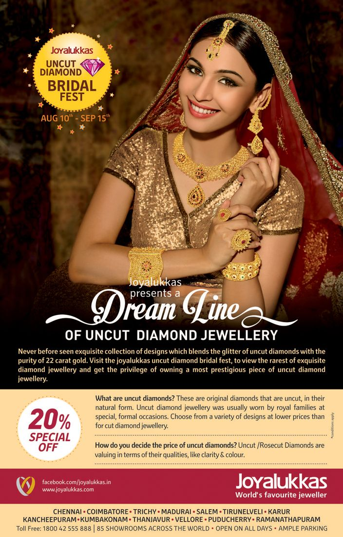 Joyalukkas Presents A Dream Line Of Uncut Diamond Jewellery Never Before Seen Exquisite Collection