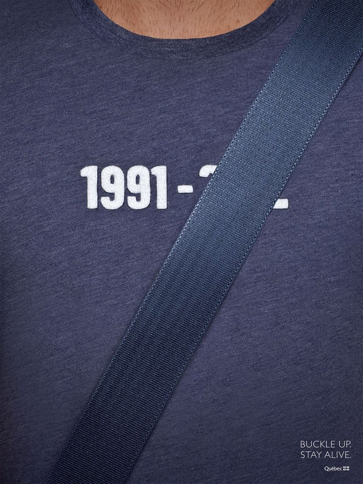 Quebec Automobile Insurance Society: Seatbelts, Blue #ad #print
