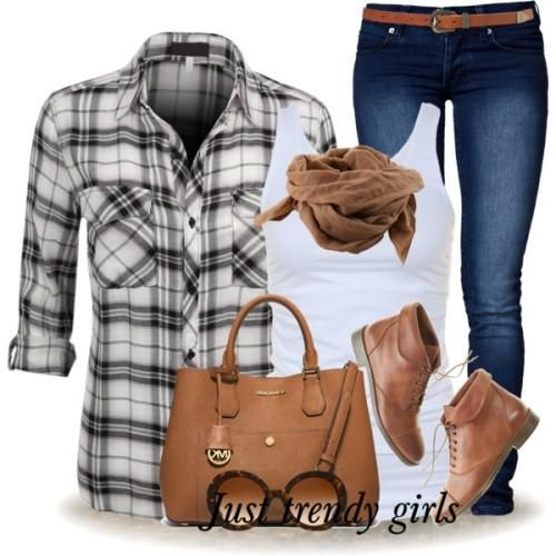 black and white checked shirt, Cowboy checked shirts with denims http://www.justtrendygirls.com/cowboy-checked-shirts-with-denims/