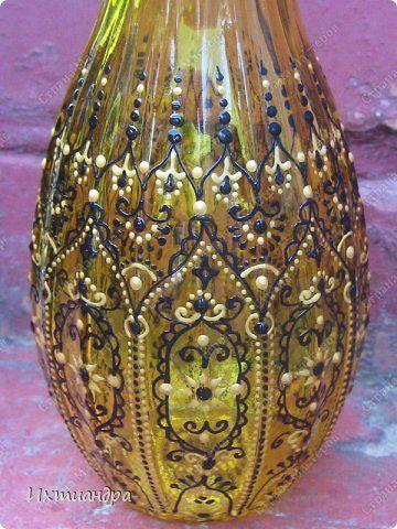 jarrones de cristal decorados con pintura d