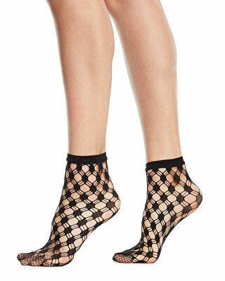 f85921b28a1 Wolford Designer Athina Geo-Net Ankle Socks