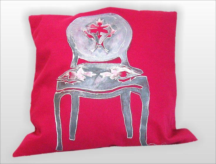 2 poduszki KRZESŁA BAROKOWE ręcznie malowane 45x45 w W.pelni Design na DaWanda.com