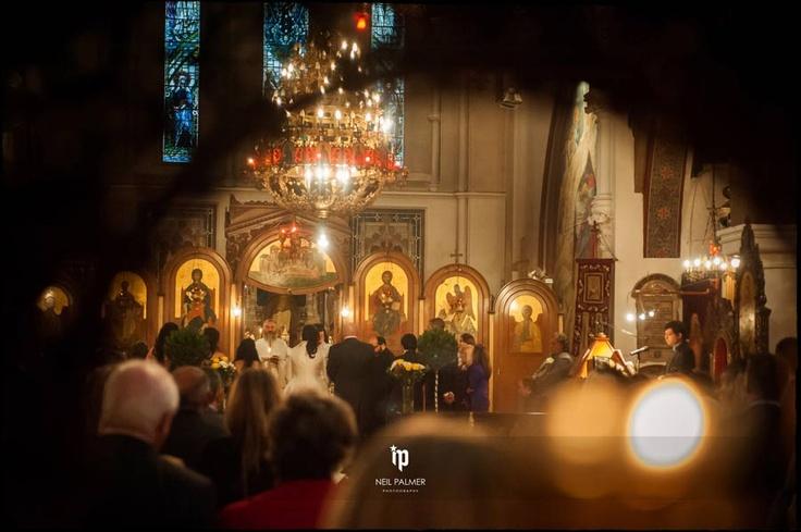 Greek Wedding Ceremony at St Nicholas Church in London http://www.neilpalmerweddings.co.uk/