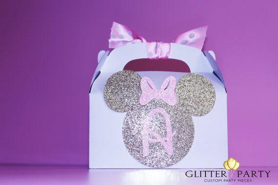 12 glitter goud en roze prinses Minnie Mouse door TheGlitterParty