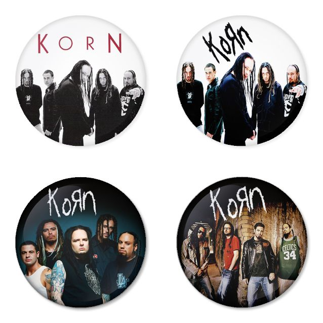 "KORN 1.75"" Badges Pinbacks, Mirror, Magnet, Bottle Opener Keychain http://www.amazon.com/gp/product/B00D6MYQV8"