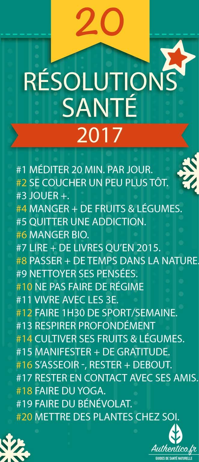 bonnes resolutions 2017 sante
