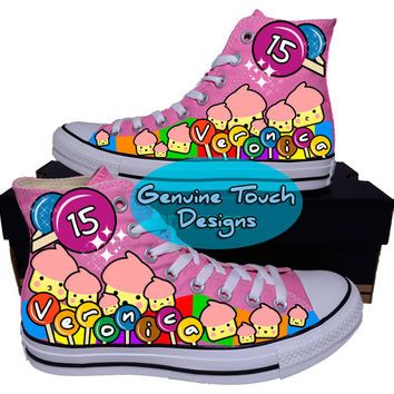 26960a91386c Genuine Touch Designs on Wanelo. Hand Painted Converse Hi Sneakers.